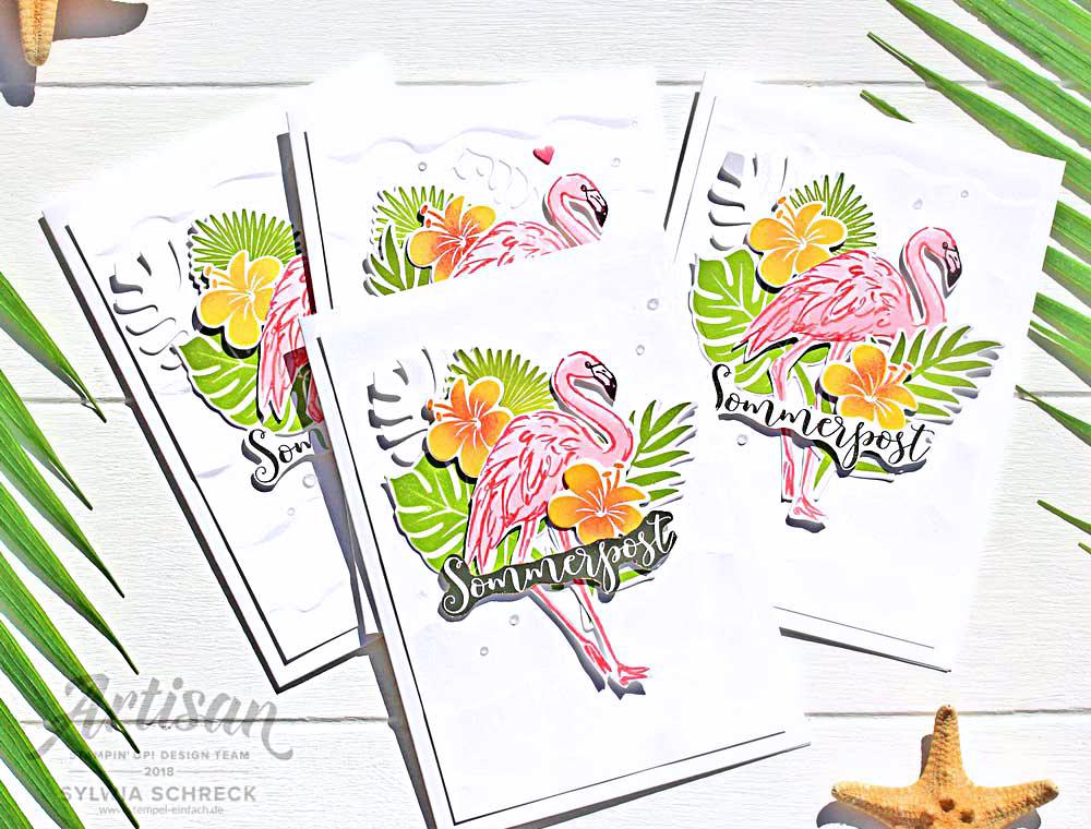 sommerpost-karten-flamingo-stampinup