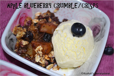 MICROWAVE APPLE BLUEBERRY CRUMBLE/CRISP