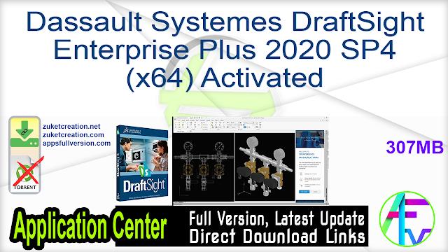 Dassault Systemes DraftSight Enterprise Plus 2020 SP4 (x64) Activated