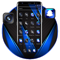 Cool Black Neon Simple Launcher Theme Apk free Download for Android
