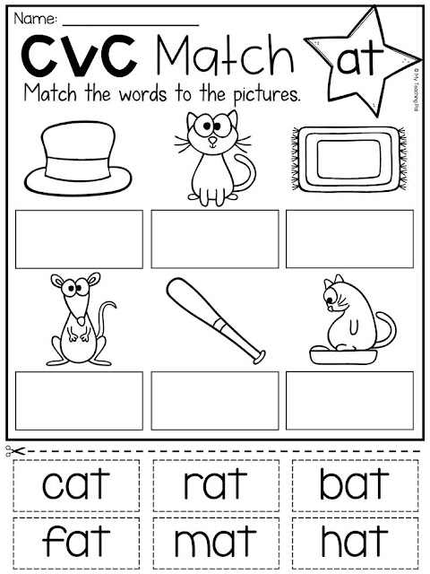 Preschool English Activities Worksheets