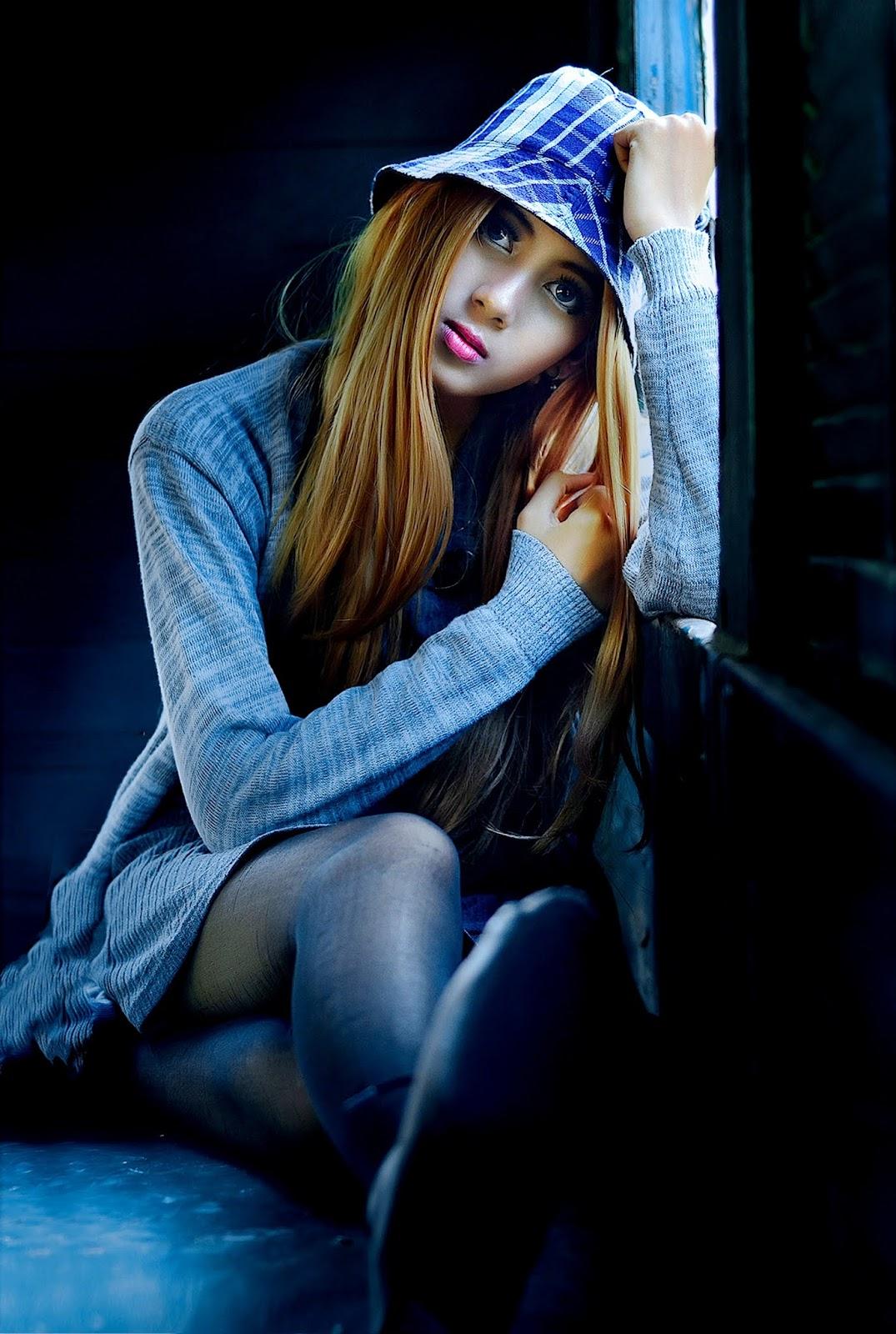 Sad Girl Alone DP for Facebook Profile