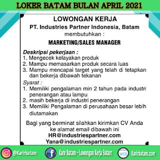 Lowongan Kerja PT. Industries Partner Indonesia