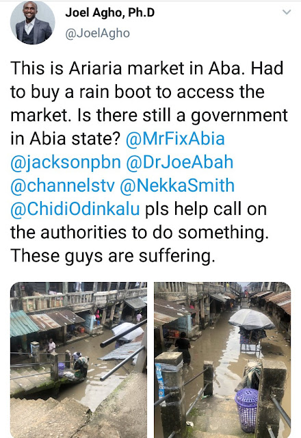 Residents complain about the state of Ariaria market in Aba after it rained
