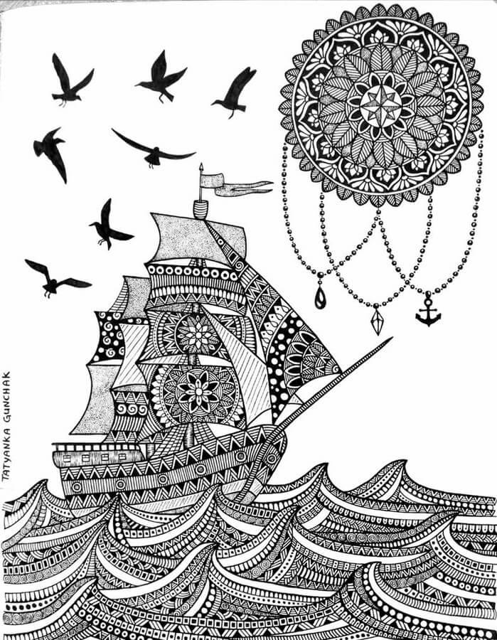 Sailboat by T. Gunchak