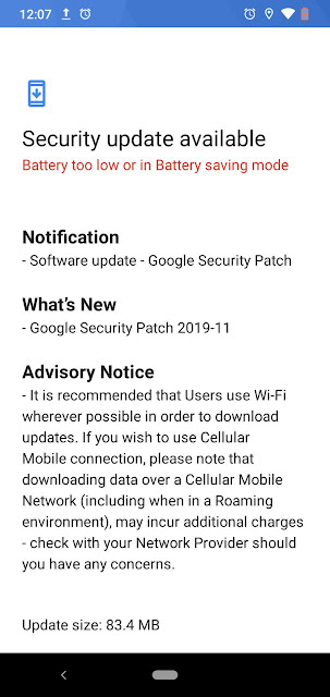 Nokia 2.2 receiving November 2019 Android Security patch