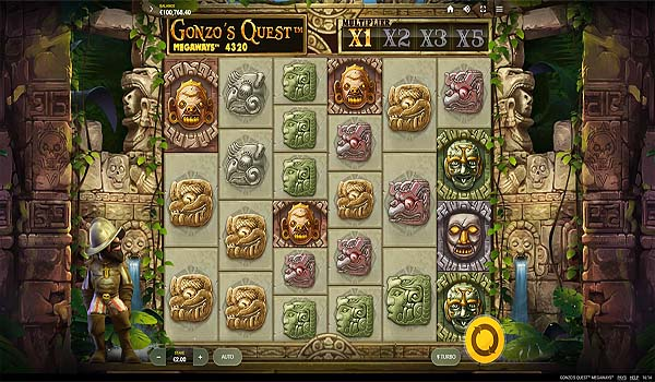 Main Gratis Slot Indonesia - Gonzo's Quest Megaways (Red Tiger Gaming)