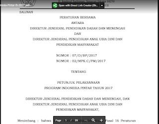 Mekanisme Pengusulan Siswa Mendapatkan Program Indonesia Pintar (PIP) 2017