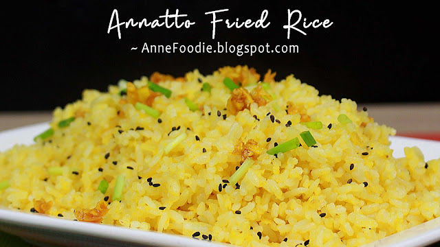 This is how to make Annatto Fried Rice with garlic (Yellow Rice) Filipino fried rice