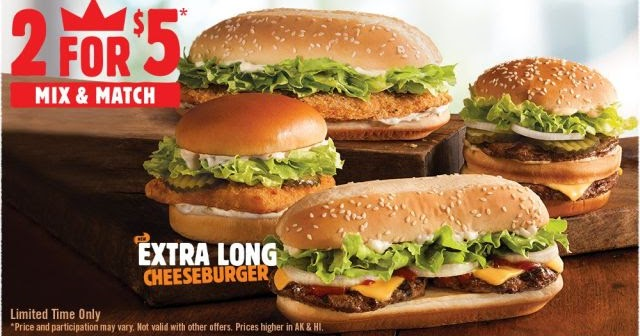 burger king adds new extra long cheeseburger to two for 5 deal