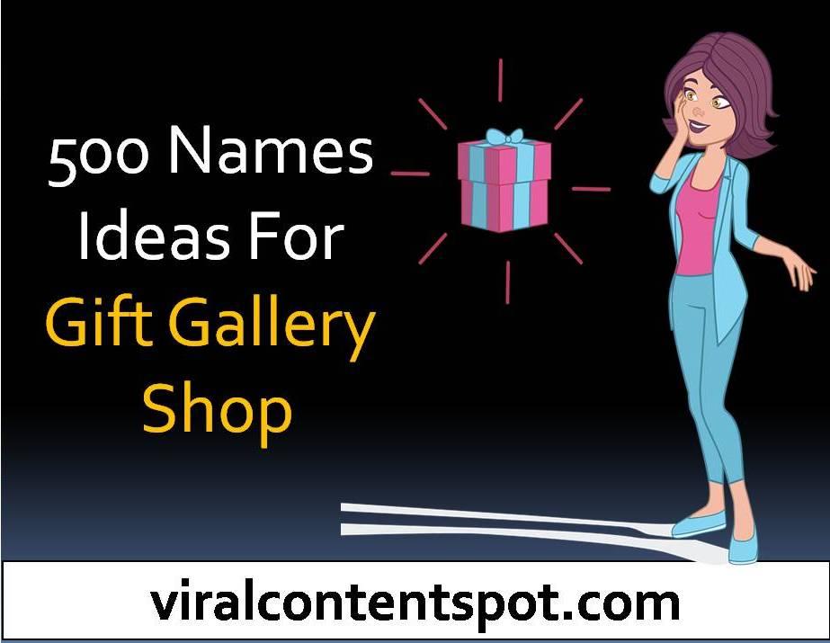 Gift Shop Name ideas