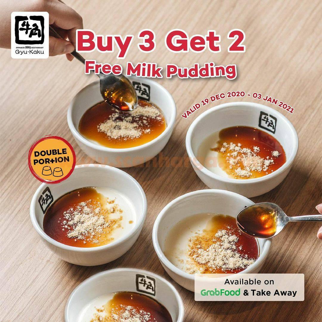 GYUKAKU Promo GRATIS Milk Pudding – Buy 3 Get 2