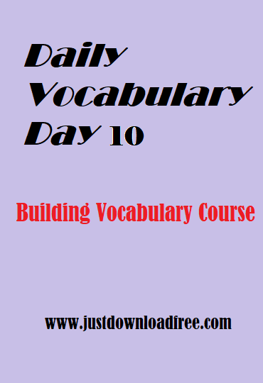 Easy tricks for vocabulary learning with free PDF download (Day 10)