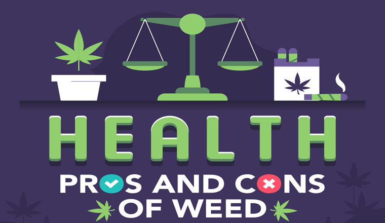 Health Pros and Cons of Weed #infographic