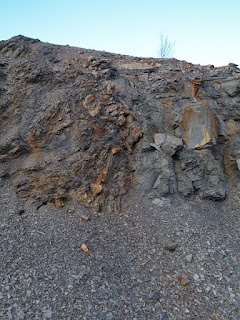 Sussex road cut showing signs of faulting and folding