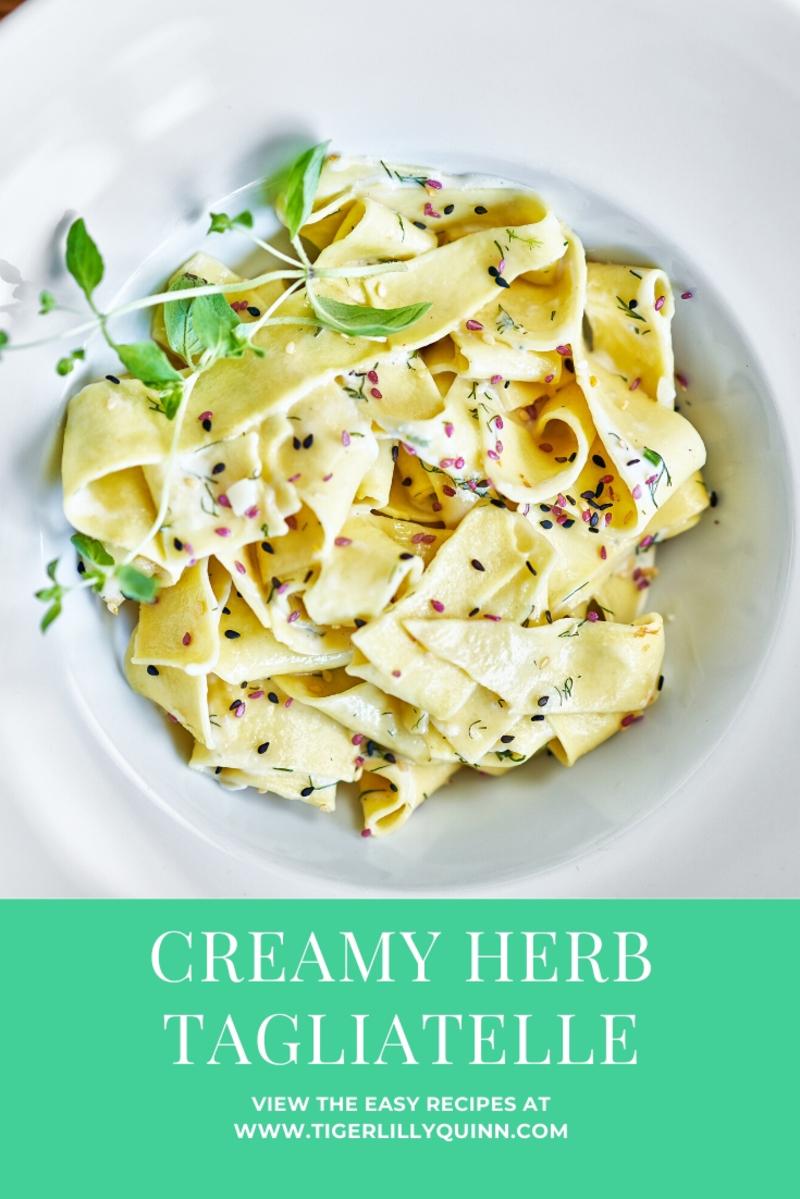 schwartz italian creamy herb tagliatelle