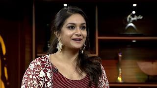 Keerthy Suresh in Maroon Color Dress with Cute and Awesome Lovely Smile 1