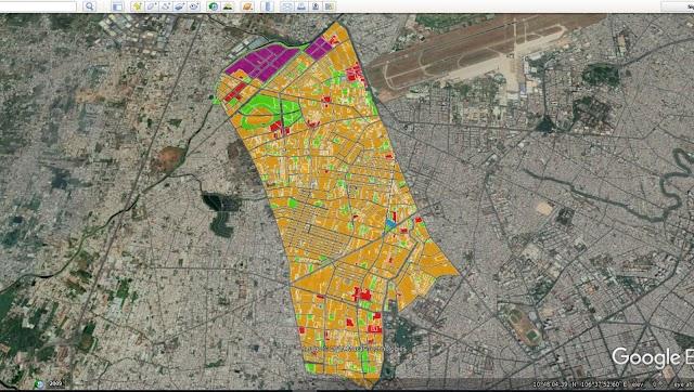 Cách xem bản đồ quy hoạch quận Tân Phú trên google map
