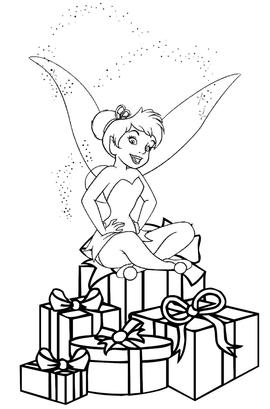 FAIRY COLORING PAGES: CHRISTMAS FAIRY COLORING PICTURE