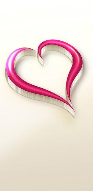 Papel De Parede Coração 3D Para Celular