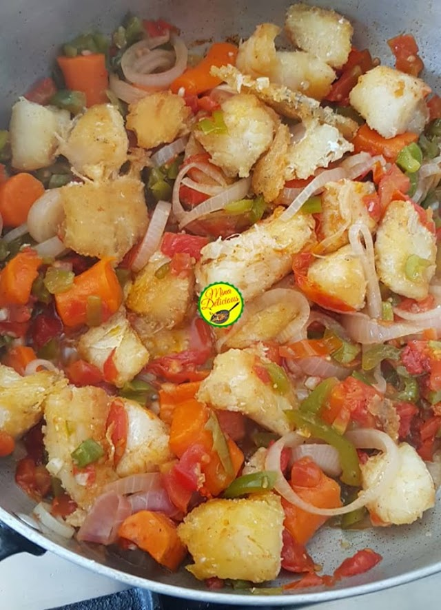 Les recettes de Mina Delicious : Poisson salé aux aubergines