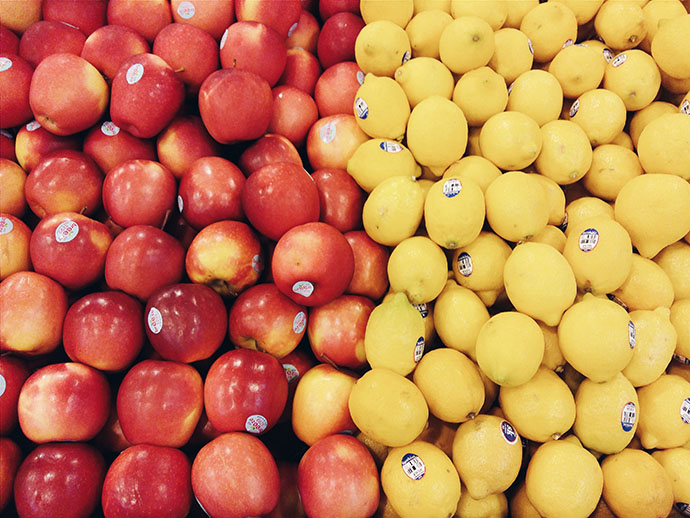 fruits photography at supermarket