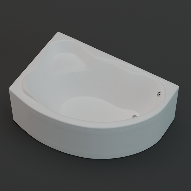vasca da bagno 3d, modello 3d, bagno