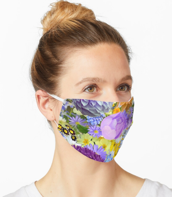 Most Beautiful flower garden in the world Mask - Buy now in my Redbubble Shop