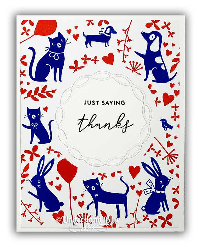 Beautiful Scandinavian inspired card by Understand Blue