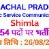 Himachal Pradesh Public Service Commission Recruitment Advertisement No. 12 /2019