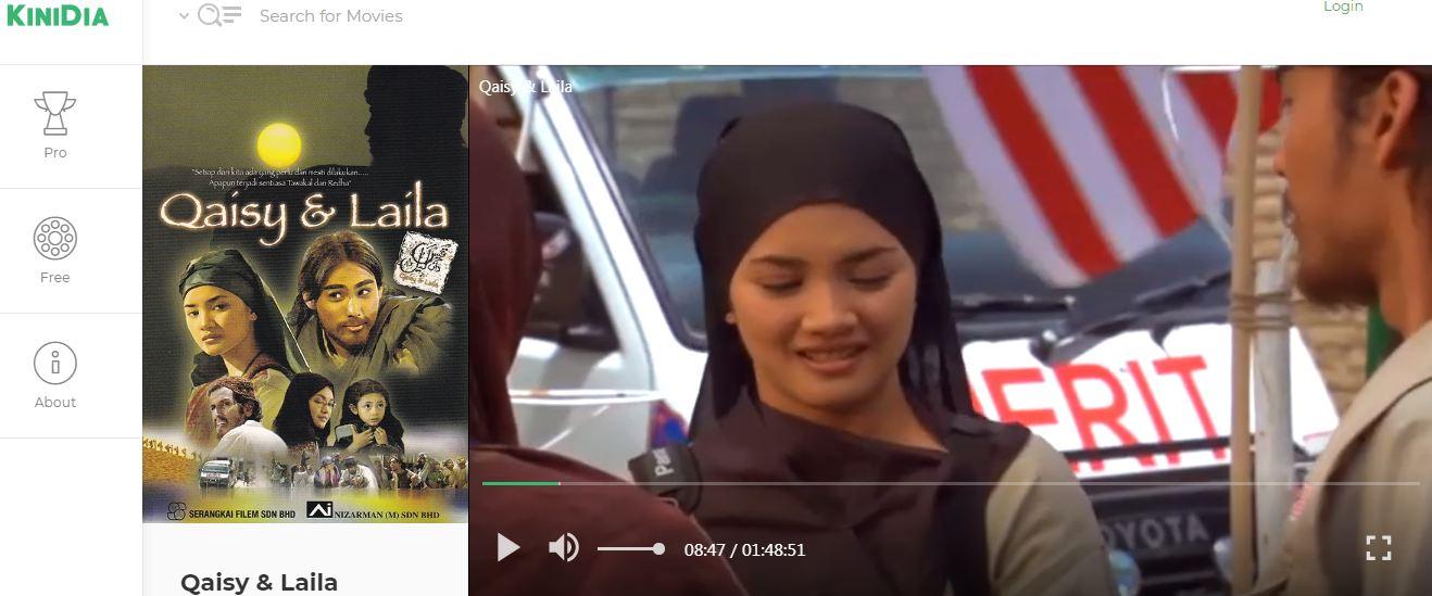 Tonton percuma filem tempatan Malaysia secara online di Kinidia.com