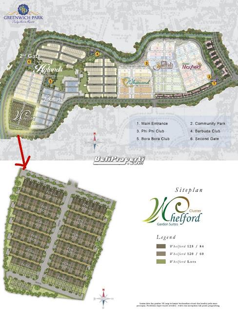 siteplan whelford garden suites greenwich park bsd city