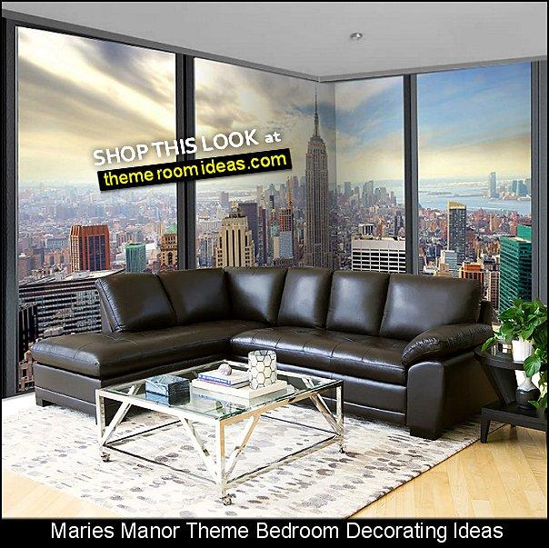 New York wallpaper mural  new york themed bedroom decorating ideas