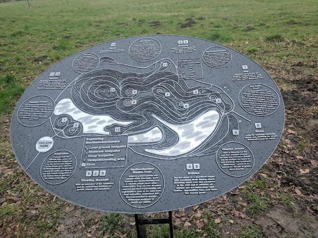 A Guide to Visiting Northumberlandia - walking map