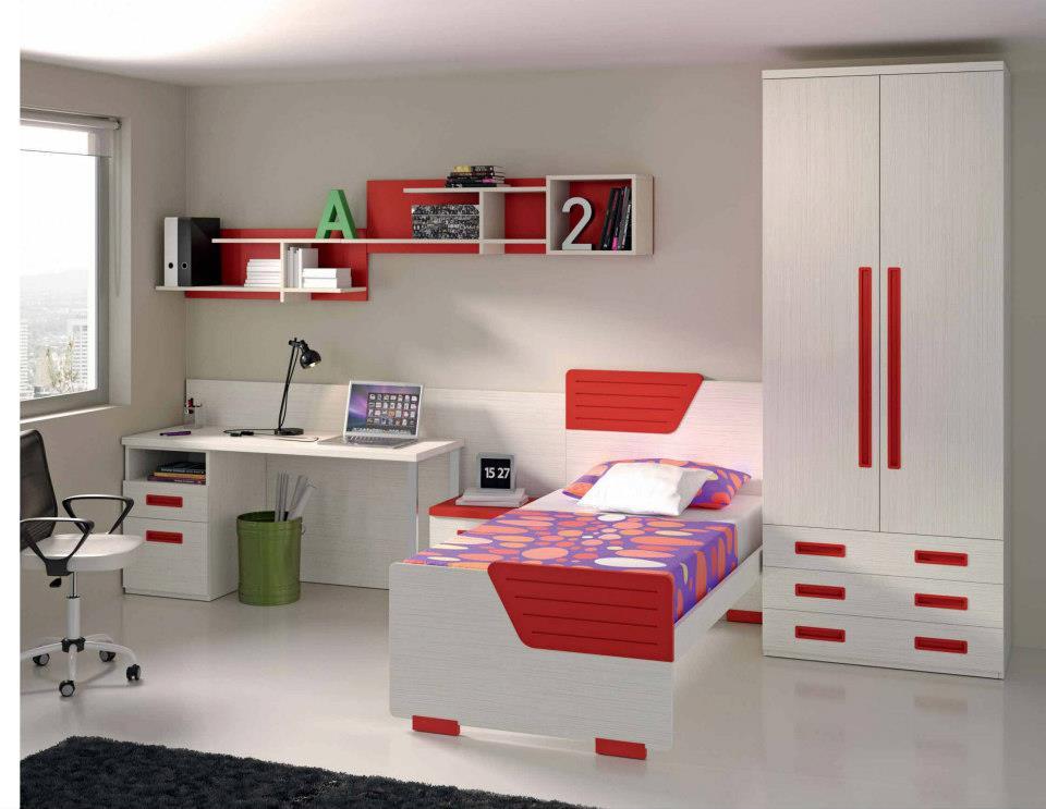 Dormitorios juveniles economicos - Cama individual juvenil ...