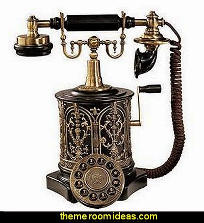 Swedish Royal Family Replica Telephone  Steampunk decorating ideas - Victorian punk rock style creates the steampunk theme - steam punk Industrial style decorating ideas  - steampunk gears decor - Steampunk clothes - Steampunk Costumes - Steampunk home decor