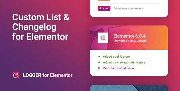 Download Logger v1.0 - Changelog & Custom List for Elementor
