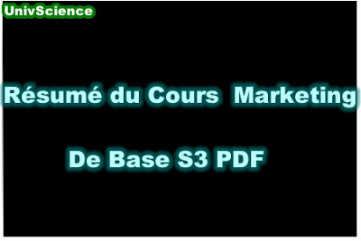 Résumé Du Cours Marketing de Base S3 PDF.