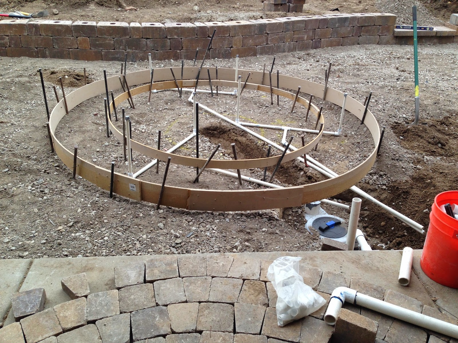 Time of Our Lives: Backyard Paver Project and Splash Pad