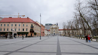 In the center of Ljubliana at the Congress Square