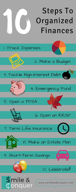 Getting your finances in order in 10 simple steps.