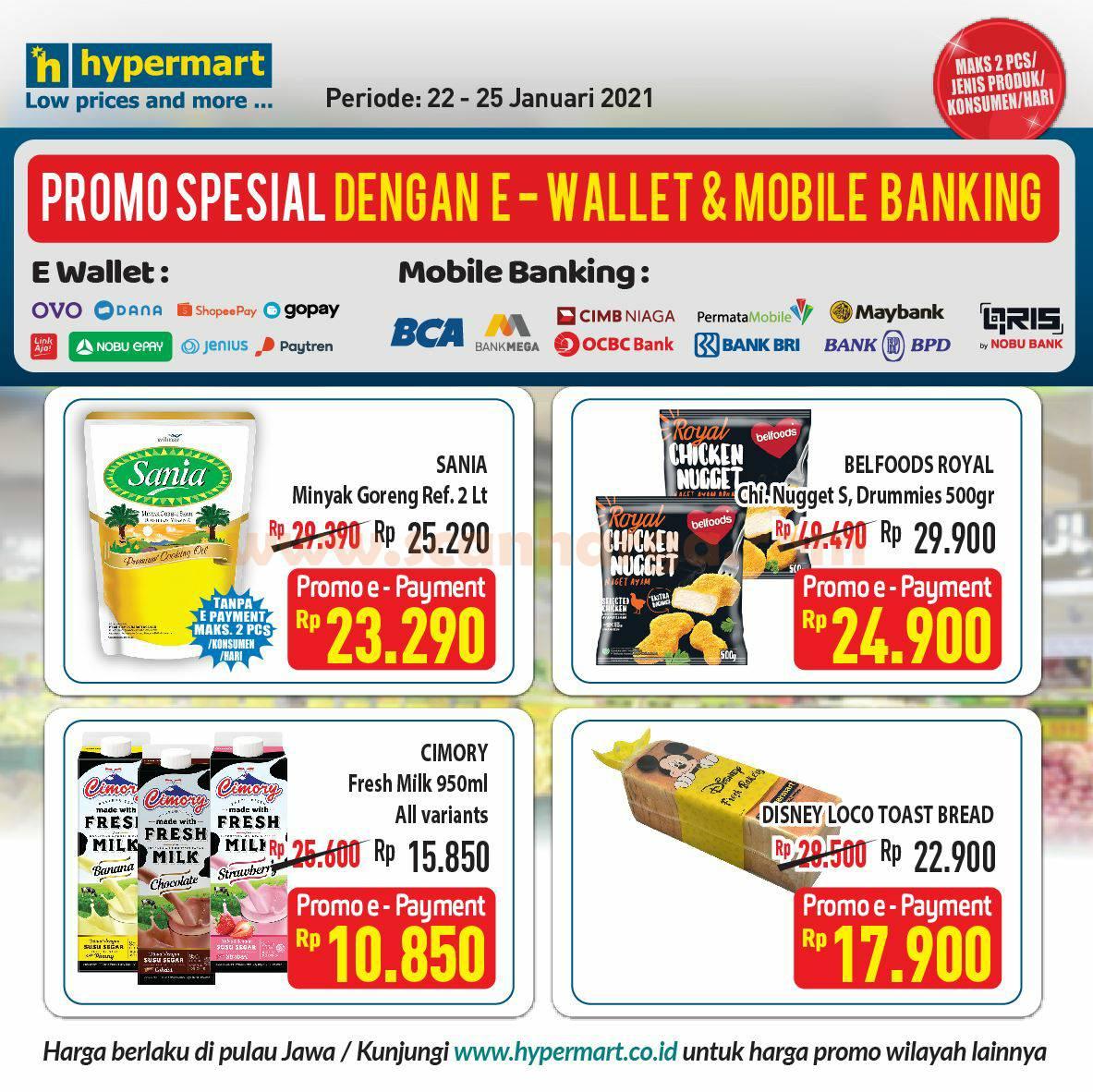 Promo HYPERMART Diskon SPESIAL bayar pakai Semua E-Wallet & Mobile Banking*