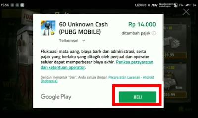 cara beli voucher game pubg mobile menggunakan pulsa telkomsel