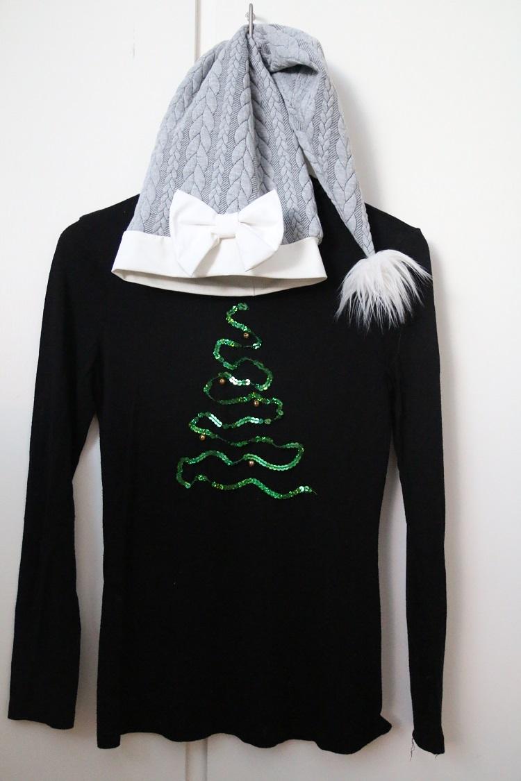 diy joulupaita, itse tehty joulupaita, christmas sweater, christmas ootd