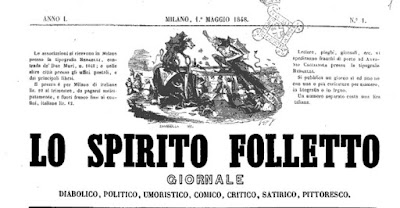intestazione giornale lo spirito folletto