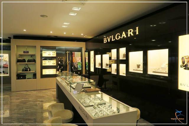 Primeiro andar da Monalisa: joias, relógios e óculos de luxo