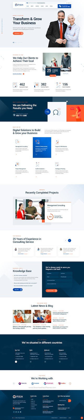 Business Consulting XD Template