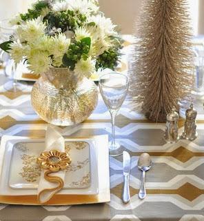 sala navidad dorado plata