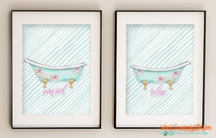 Free Bathroom Wall Art Printables