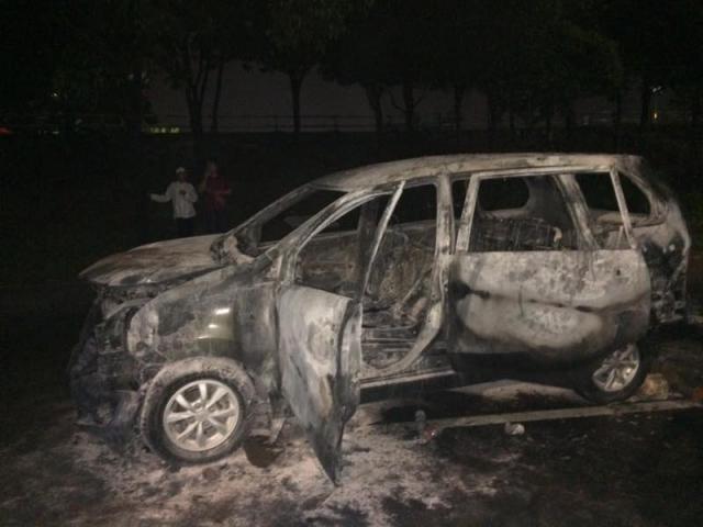 Inilah Mobil yang Meledak Dekat Lokasi Tabligh Akbar FPI